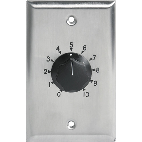 Atlas Sound AT35 35W Single Gang Stainless Steel 70.7V Commercial Attenuator