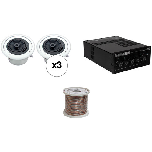 Atlas Sound Basic Single-Zone, 70V Ceiling Sound System for up to 1,000 sq ft.