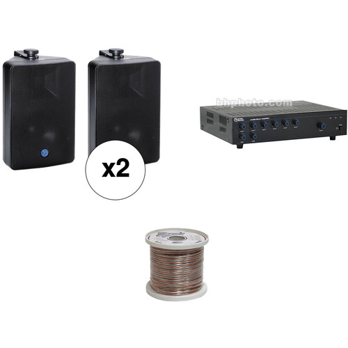 Atlas Sound Basic Single-Zone, 70V Wall Mount Sound System for up to 1,500 sq ft.