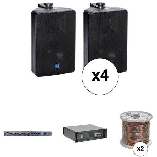 Atlas Sound Basic Two-Zone, 70V Wall Mounted Sound System for up to 3,000 sq ft.