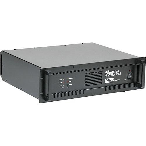 Atlas Sound CP700 Dual-Channel 700W Commercial Power Amplifier (Black)