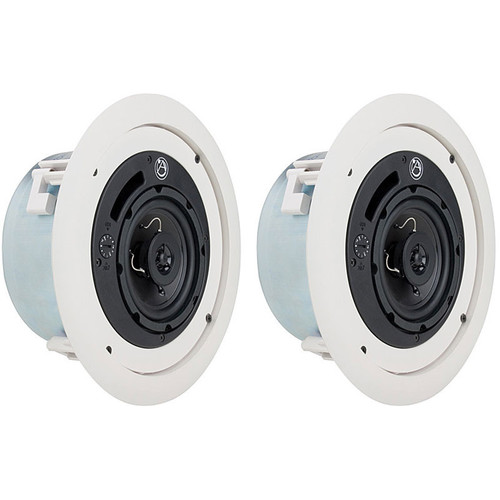 "Atlas Sound FAP42TC Strategy II 4"" 16W Coaxial Low Profile Ceiling System (Pair)"