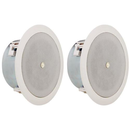 "Atlas Sound FAP42TC-UL2043 - Low Depth 4"" 70V Ceiling and Wall Mount Speaker (Pair)"