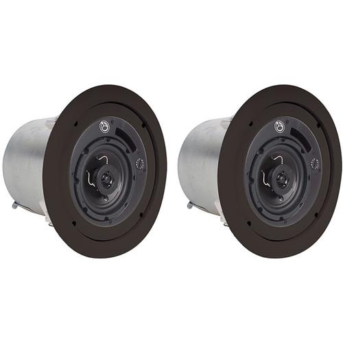 "Atlas Sound FAP42TB 4"" 2-Way Weather Resistant Speaker System (Pair, Black)"