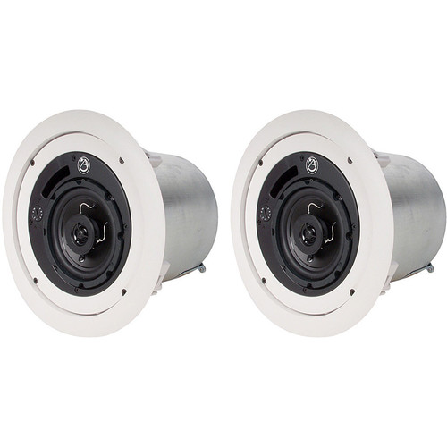 "Atlas Sound FAP42T 4"" 2-Way Weather-Resistant Speaker System (Pair, White)"