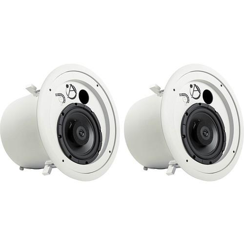 Atlas Sound FAP82T Coaxial  70V Ceiling Speakers (Pair)