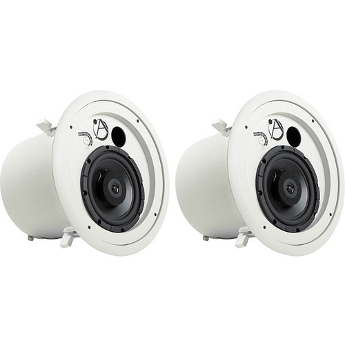 "Atlas Sound FAP82T Strategy II Series 8"" 60W Coaxial Ceiling Speakers (Pair, White)"