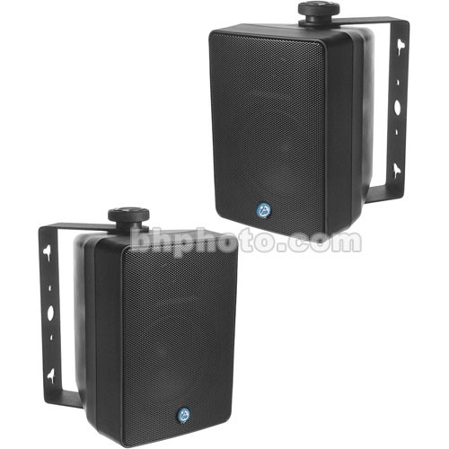 Atlas Sound SM42T-B - Two-Way Weather-Resistant Surface Speaker (Pair, Black)
