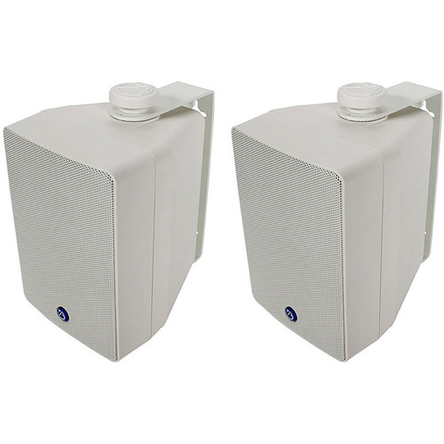 Atlas Sound SM42T-W - Two-Way Weather-Resistant Surface Speaker (Pair, White)