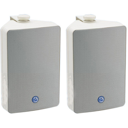Atlas Sound SM52TW Weather Resistant Speaker with Internal Transformer (White, Pair)