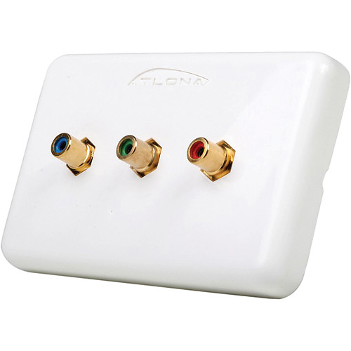 Atlona (3-RCA) Component Video Wall Plate