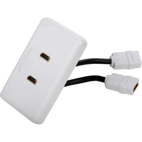 Atlona Dual Port HDMI Wall Plate (White)