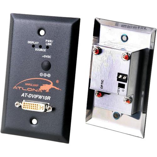 Atlona Wall Plate Style DVI Receiver over Single Multi-mode Fiber
