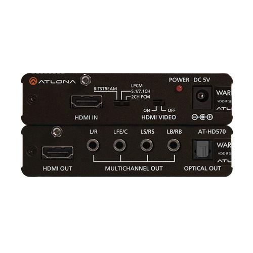 Atlona HDMI (1.3) Audio De-Embedder with 3D Support