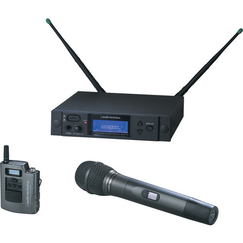 Audio-Technica 4000 Series AEW-4313aD UHF Wireless Body Pack & Handheld Cardioid Condenser Microphone System (Band D)