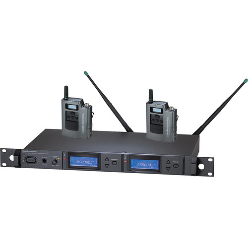 Audio-Technica 5000 Series AEW-5111aC UHF Wireless Dual Body Pack System (Band C)