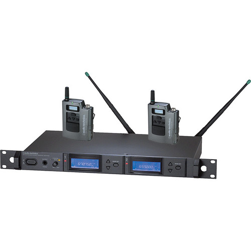 Audio-Technica 5000 Series AEW-5111aD UHF Wireless Dual Body Pack System (Band D)