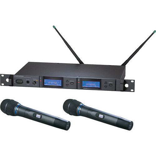 Audio-Technica 5000 Series AEW-5233aD UHF Wireless Dual Handheld Cardioid Condenser Microphone System (Band D)