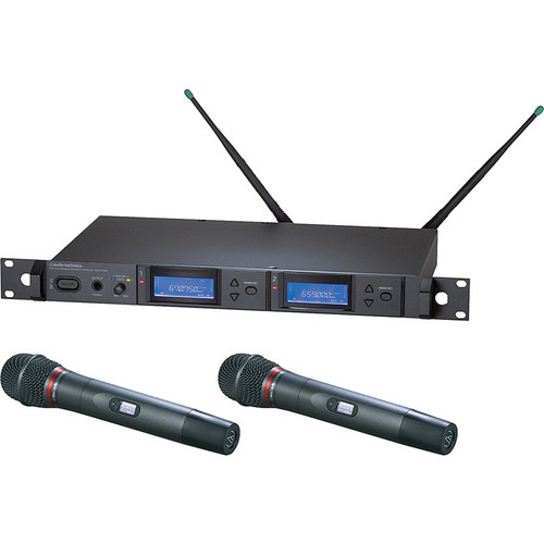 Audio-Technica 5000 Series AEW-5244aC UHF Wireless Dual Handheld Cardioid Dynamic Microphone System (Band C)
