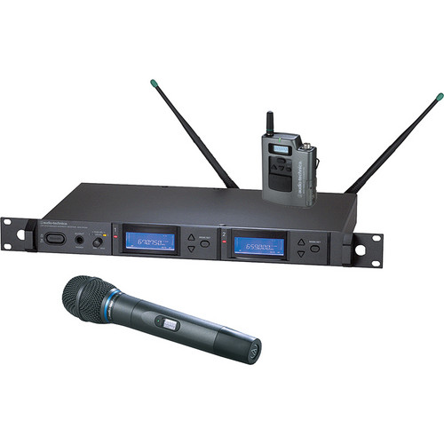 Audio-Technica 5000 Series AEW-5315aD UHF Dual Wireless Bodypack & Handheld Cardioid Condenser Microphone System (Band D)