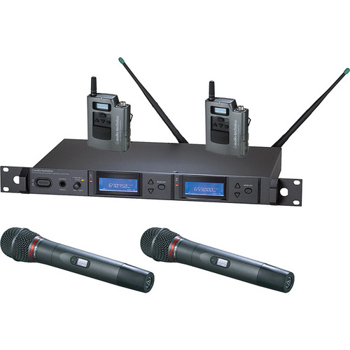 Audio-Technica 5000 Series AEW-5416aC UHF Dual Wireless Bodypack & Handheld Hypercardioid Dynamic Microphone Combo System (Band C)