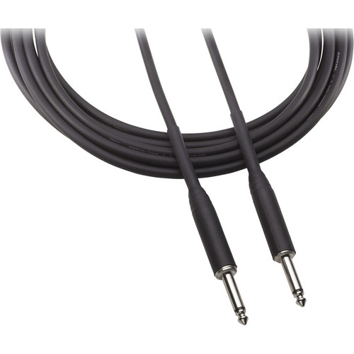 """Audio-Technica AT8390-1 1/4"""" Male to 1/4"""" Male Instrument Cable - 1'"""