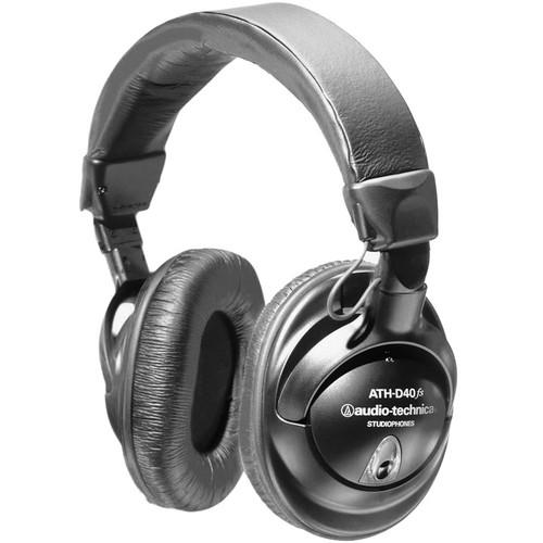 Audio-Technica ATH-D40fs Professional Enhanced-Bass Studio Monitor Headphones