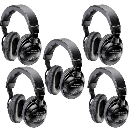 Audio-Technica ATH-M40fs Headphone Kit (5 Pack)