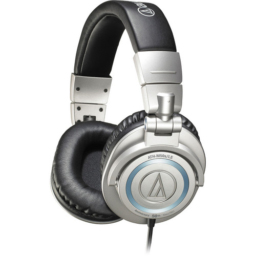 Audio-Technica ATH-M50s/LE Professional Closed-Back Studio Headphones (Silver)