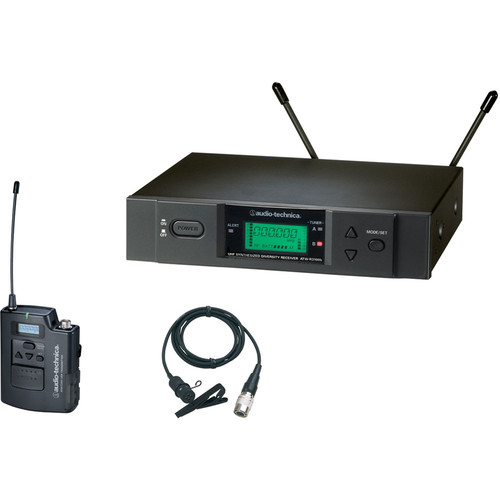 Audio-Technica ATW-3131b Wireless Lavalier Microphone System (Band D: 655.500 - 680.375 MHz)