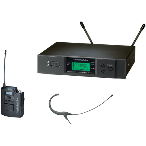 Audio-Technica ATW-3192 Wireless UHF Body-Pack System with Headworn Microphone (Black)