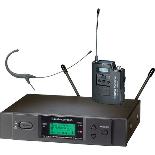 Audio-Technica ATW-3192B Wireless UHF Body-Pack System with Headworn Microphone (Cocoa)