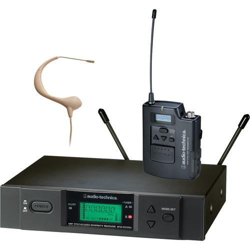 Audio-Technica ATW-3193 Wireless UHF Bodypack System with Headworn Microphone (Beige)