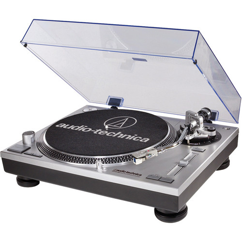 Audio-Technica Consumer AT-LP120USB Direct Drive Professional DJ Turntable with USB Output (Silver)
