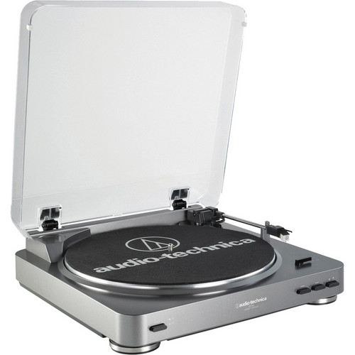 Audio-Technica Consumer AT-LP60USB Fully Automatic Belt-Drive Turntable (Silver)