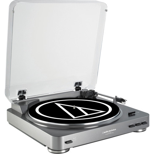Audio-Technica Consumer AT-LP60 Fully Automatic Belt-Drive Turntable (Silver)
