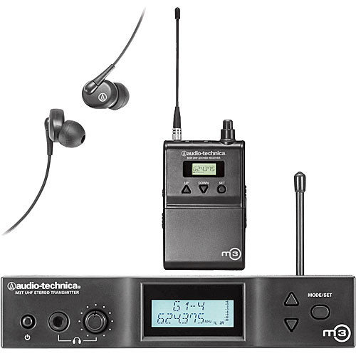 Audio-Technica M3 Wireless In-Ear Monitoring System (Band L: 575.000 to 608.000 MHz)