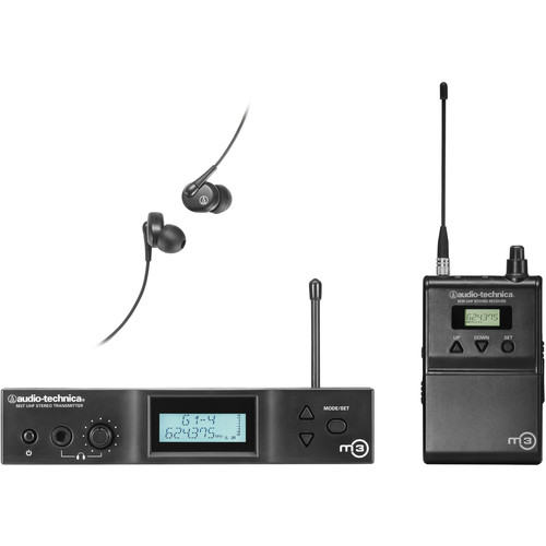 Audio-Technica M3 Wireless In-Ear Monitoring System (Band M: 614.000 to 647.000 MHz)