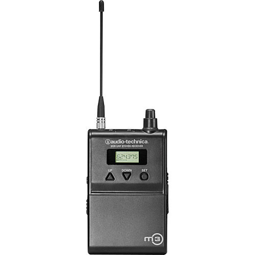 Audio-Technica M3R Wireless In-Ear Monitoring Receiver (Band M: 614.000 to 647.000 MHz)
