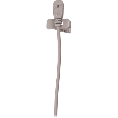 Audio-Technica MT830cW-TH Omnidirectional Lavalier Microphone for Wireless (Theater-Beige, Hirose 4-Pin Connector)