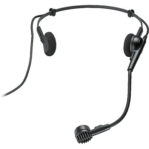 "Audio-Technica PRO 8/HEMW - Hyper-Cardioid Headworn Dynamic Microphone with 1/8"" (3.5mm) Mini Connector for Pro88W Wireless Transmitters"