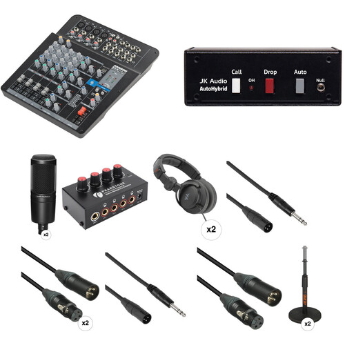 Audio-Technica THE TWO PERSON Audio Podcast Kit with Land Line Call-In & Mixer/Interface