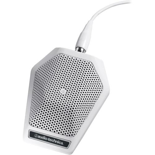 Audio-Technica U851RW Cardioid Condenser Boundary Microphone (White)