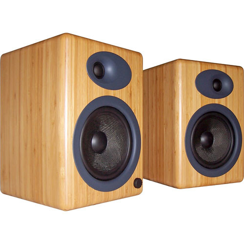 Audioengine A5N BAMBOO 2-Way Bookshelf Speaker (Caramel, Pair)