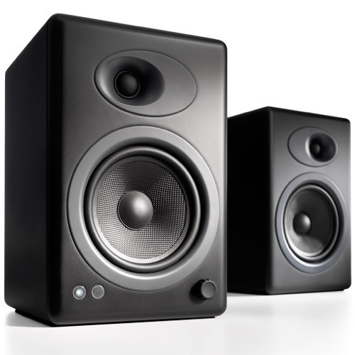 Audioengine A5+ 2-Way Bookshelf Speakers (Satin Black, Pair)