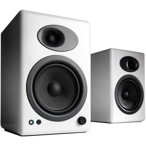 Audioengine A5+ 2-Way Bookshelf Speakers (Hi-Gloss White, Pair)