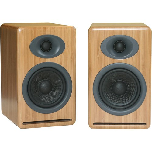 Audioengine P4 2-Way Passive Bookshelf Speakers (Bamboo, Pair)