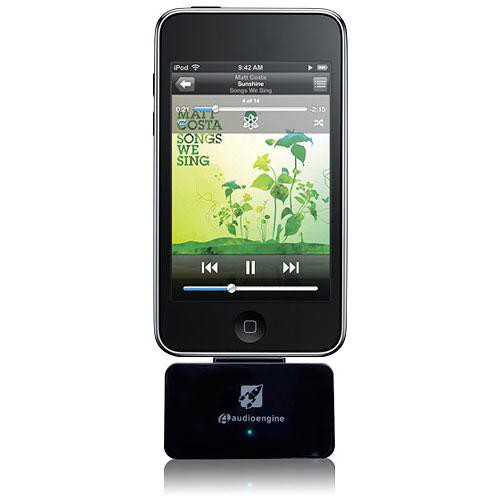 Audioengine AW2 Premium Wireless Adapter for iPod (Black)