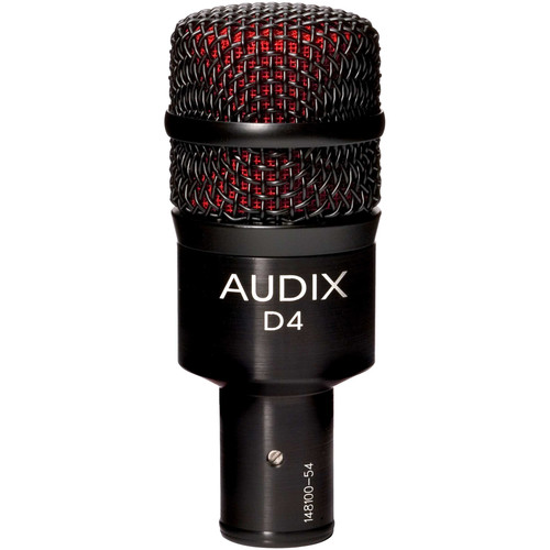 Audix D4 Hypercardioid Dynamic Drum and Instrument Microphone