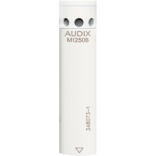 Audix M1250BW-HC Miniaturized Condenser Microphone (Hypercardioid, White)